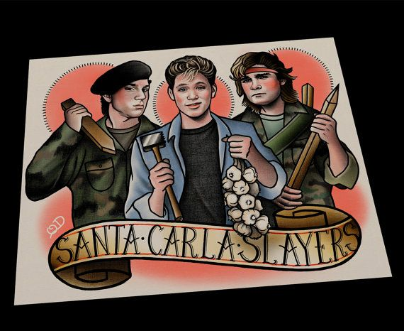 Santa Carla Slayers Tattoo Art Print