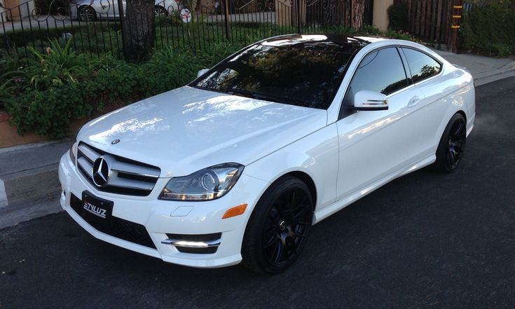 Mercedes C250 Coupe w/ STYLUZ M537 ALL BLACK WHEELS