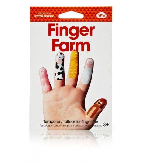 NPW Finger Farm Tattoos Aufkleber Hauttattoo Kindertattoos Sticker   -statt 5,05 € jetzt für nur 3,99 € ! 2-flowerpower
