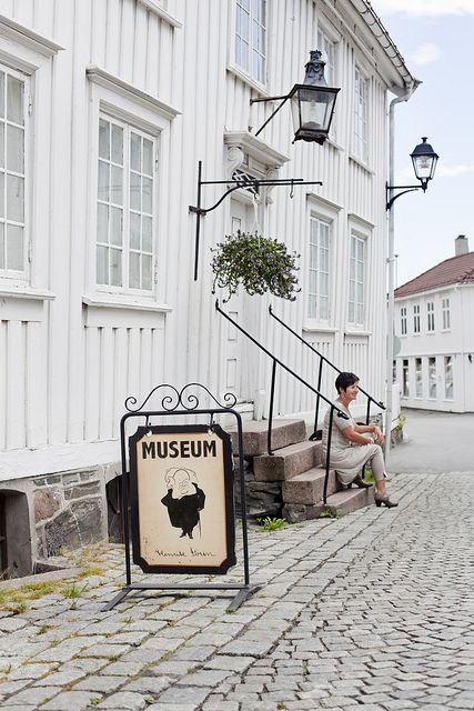 GRIMSTAD, NORWAY   l   Henrik Ibsen and his plays are honored in The Ibsen Museum in Grimstad, Norway