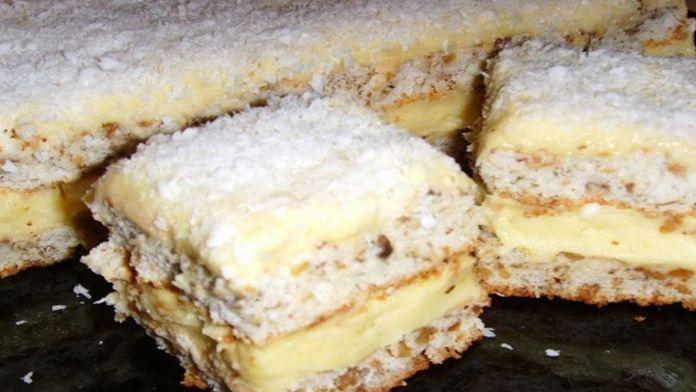 Famózní moučník s luxusním žloutkovým krémem připravený jen ve dvou krocích! | Vychytávkov