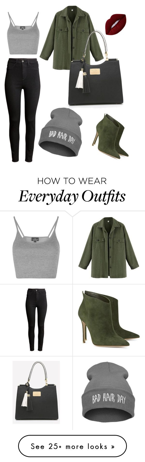 """Everyday outfit for the autumn"" by margauxoxo on Polyvore featuring H&M, Gianvito Rossi, Topshop and Lime Crime"
