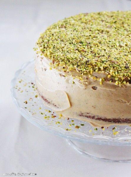 Кофейно-фисташковый торт