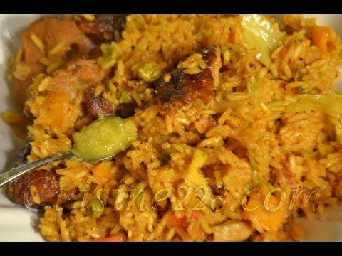 Riz au gras aux ailes de dinde fumé - Jollof (cuisine togolaise, ivoirienne, nigériane, ghanéen ) - YouTube