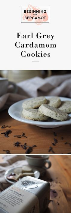 This is a super easy tea cookie recipe for an everyday dessert or indulgent tea party afternoon. Made using Lord Bergamot tea by Steven Smith Teamaker. // Earl Grey Cardamom Cookies // Beginning with Bergamot