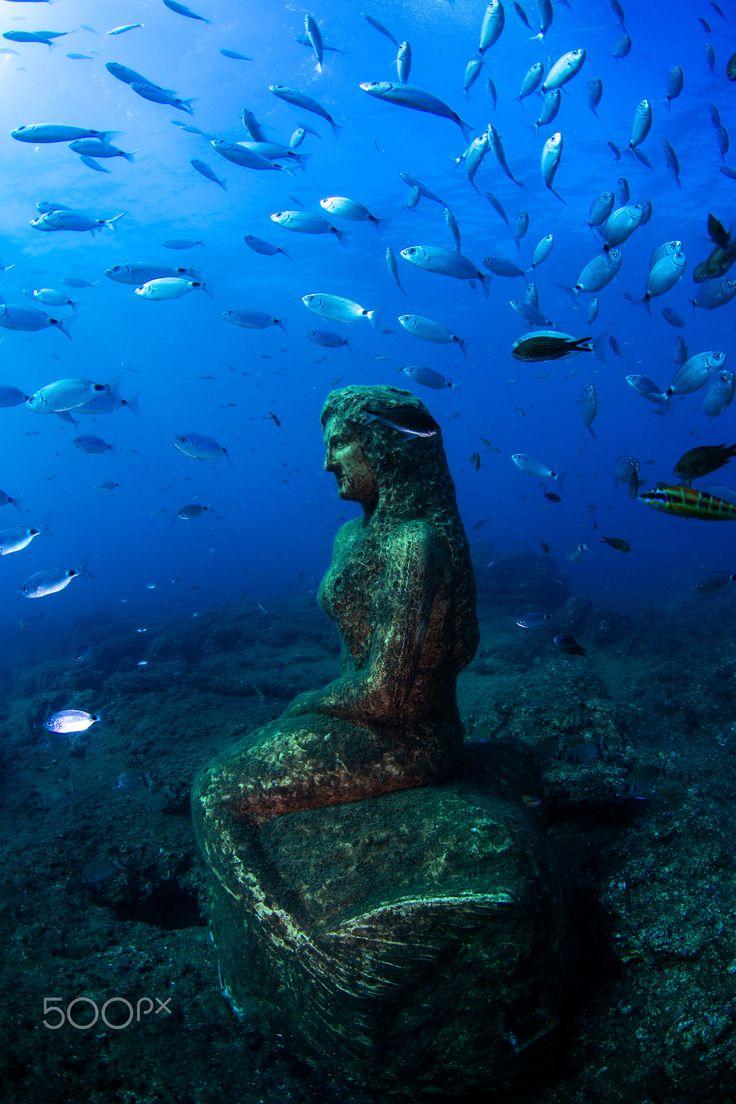 A figure under water near by Side in Turkey