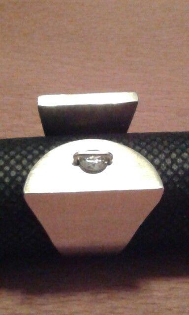 Geelgouden ring met briljant
