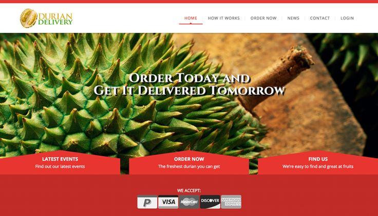 Durian Delivery Web Design & Development #inpixelhaus #webdesign #webdevelopment #responsive #fluid #durian #creative #agency #website