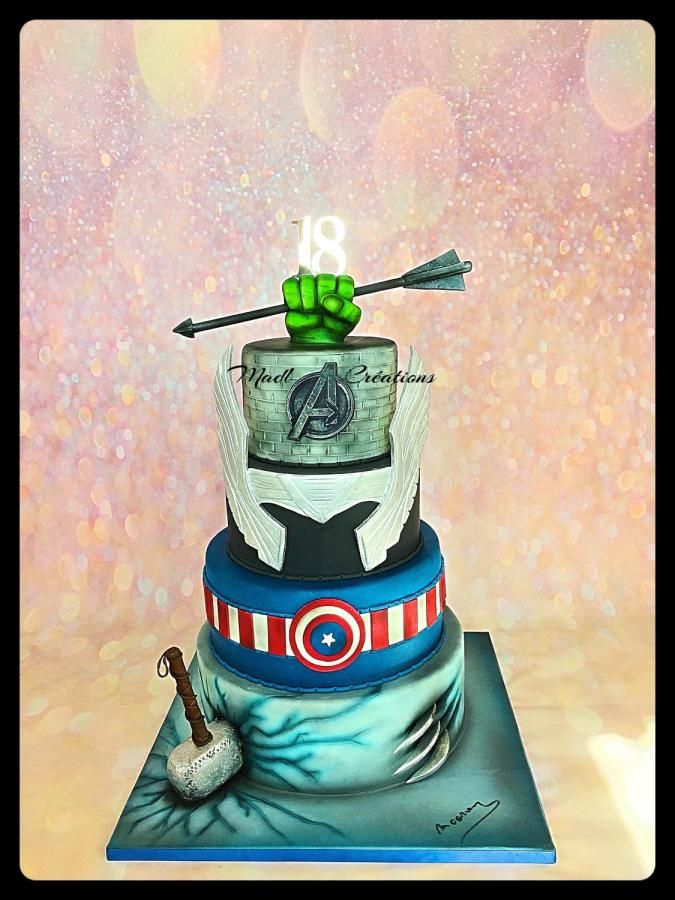 Marvel cake  by Cindy Sauvage