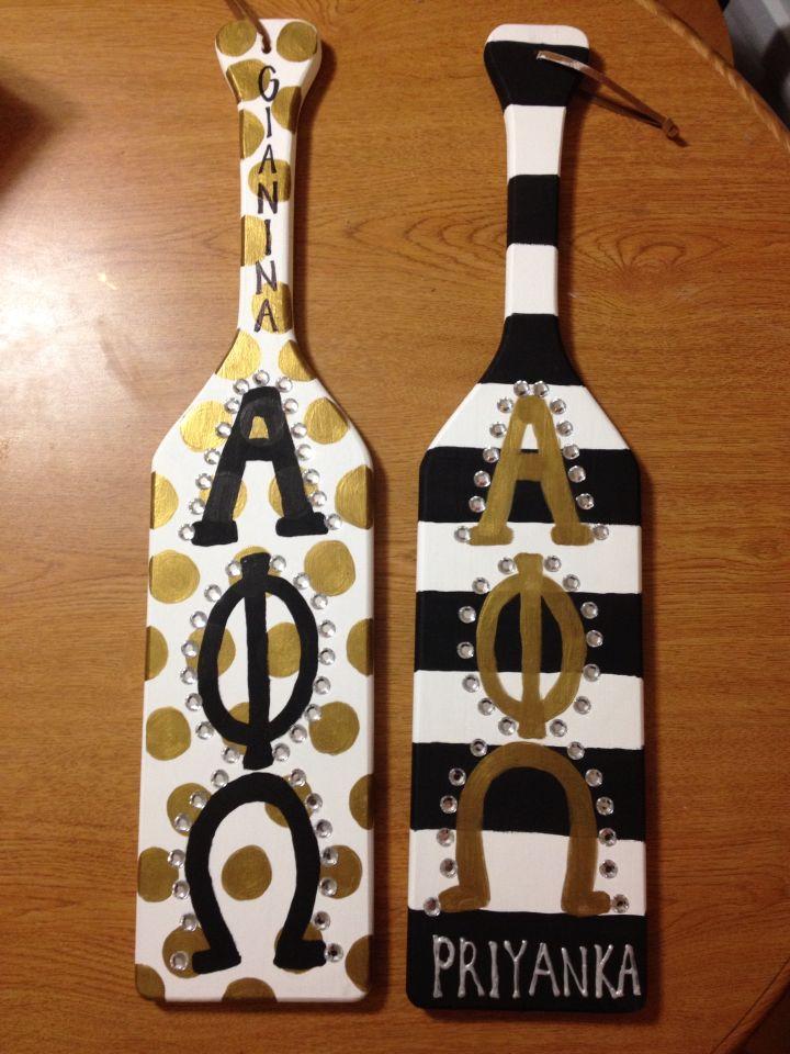 Alpha Phi Omega Paddles #APO #fraternity #paddle