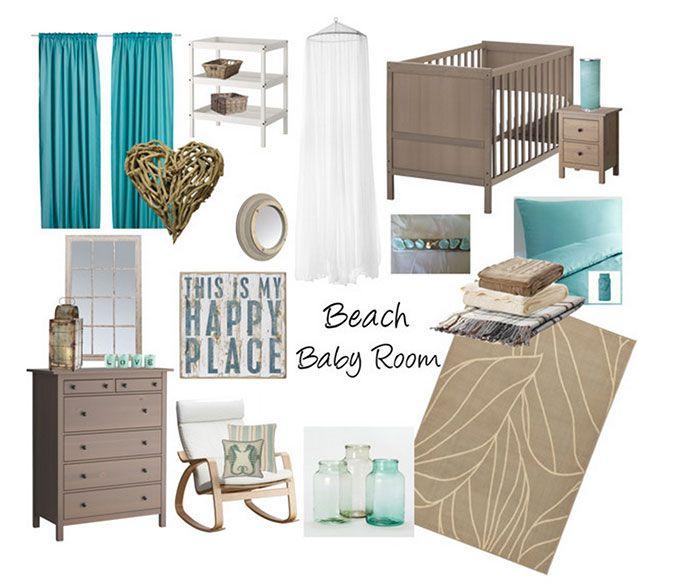 Babykamer strand thema - inspiratie voor een kamer in strandstijl!
