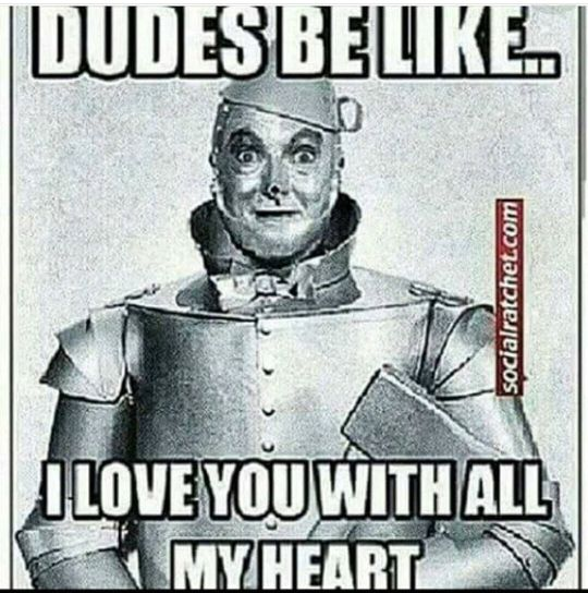 tin man,wizard of oz,dudes be like,I love you with all my heart,meme