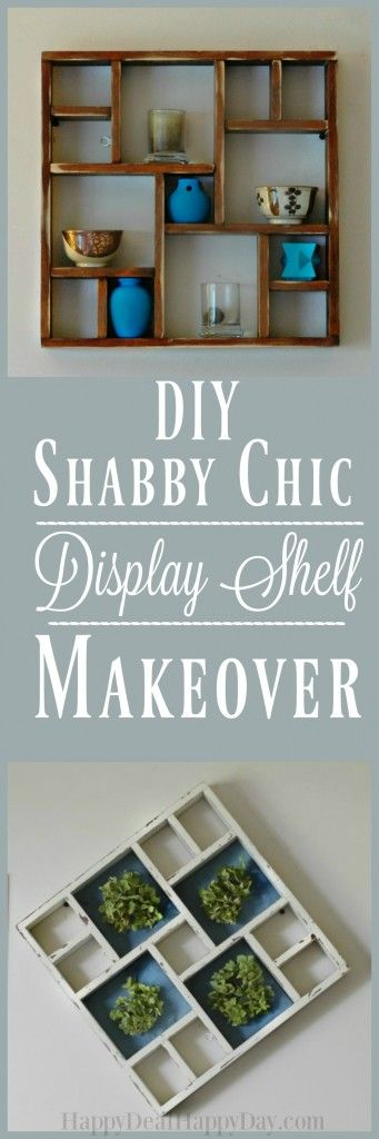 Shabby Chic Display Shelf Makeover - give an old knick knack shelf new life with…