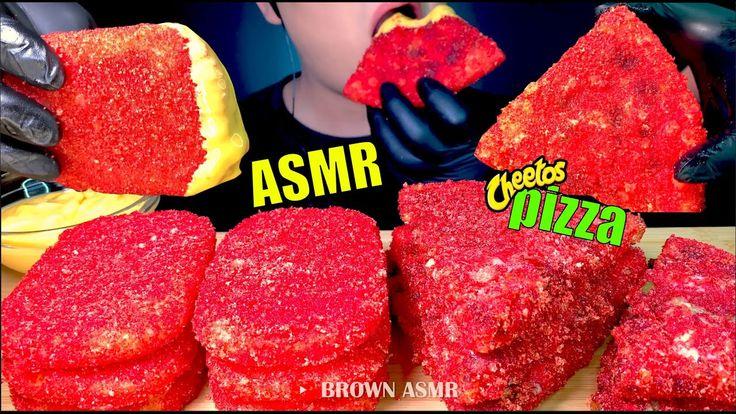 Asmr hot cheetos pizza hash browns eating sounds