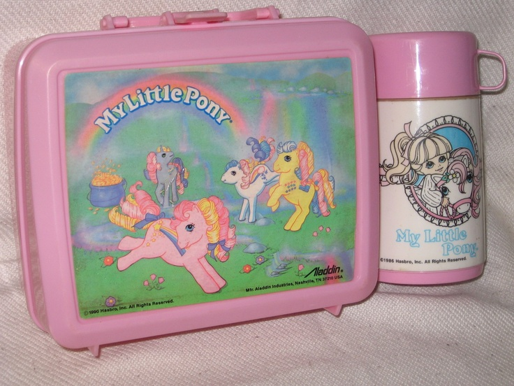 My Little Pony lunch box & thermos-I think I had this!!!