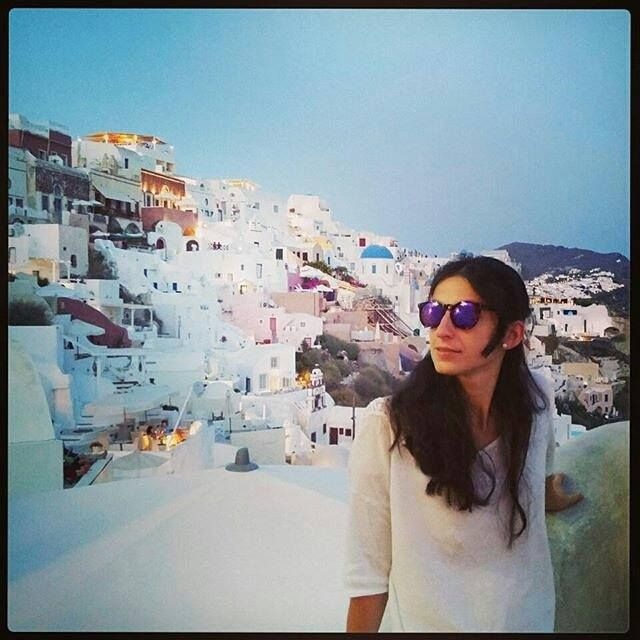 We haven't made it to Santorini this year, but one of our friends did and she posted this beautiful photo. The Santorini model in... Santorini. Making memories.  #scapeswear #scapes #sunglasses #scapessunglasses #landscapes #santorini