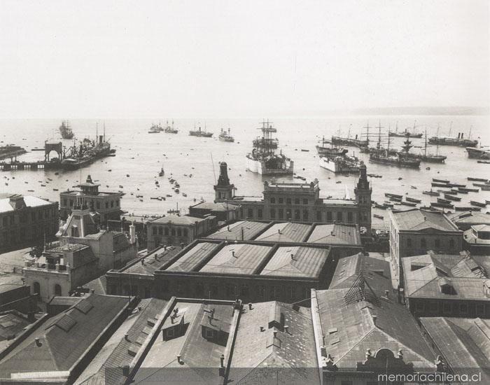Bahía de Valparaíso, ca. 1900