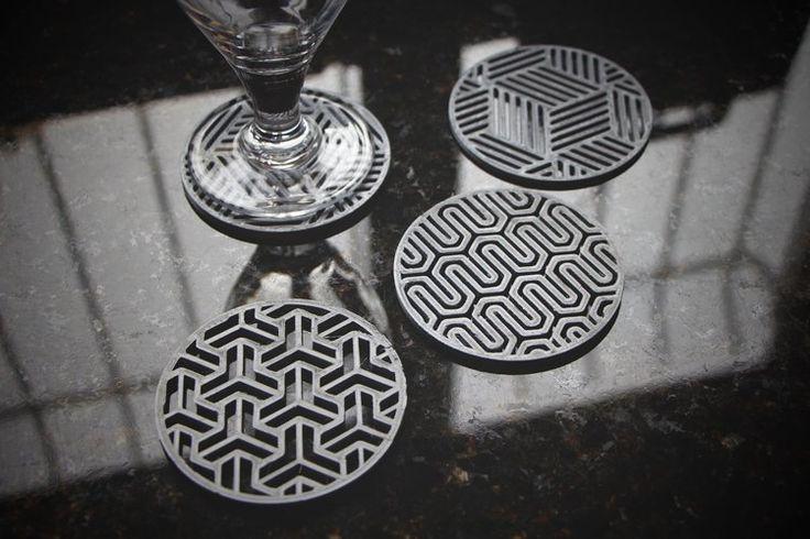 Three Geometric Coaster Designs 3D Printing 43111