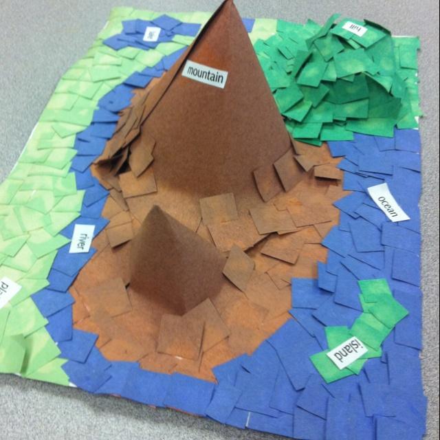 Landform mosaic | school stuff | Pinterest | Mosaics, Social studies ...
