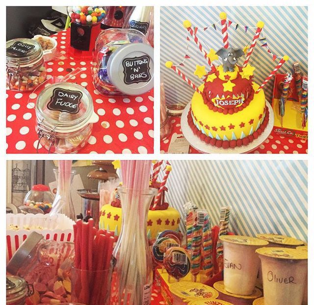 Circus themed party I threw for my sons 1st birthday