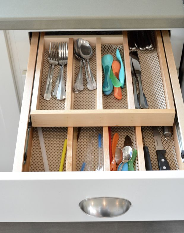 Drawer Organizers - Must have this double stacked utensil organizer in kitchen
