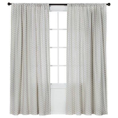 These are our curtains nate berkus origami print window for Origami curtain