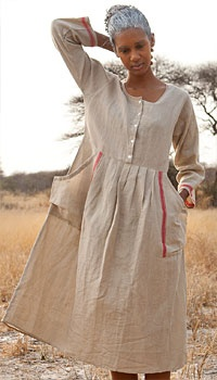 Linen and cotton dress by Gudrun Sjoden - so lovely I have it in all three colours!