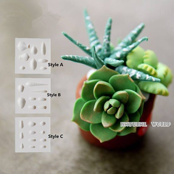 succulent plant silicone Mold Fondant Gum Paste Chocolate Craft Mold For Resin Polymer Clay Metal Clay,porcelain mold,jewelry mold,cake mold