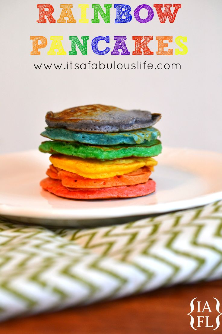 Best 25+ Rainbow pancakes ideas on Pinterest   Rainbow waffles ...