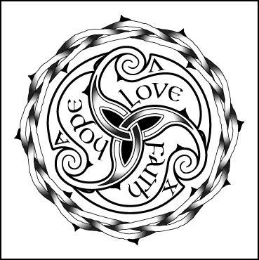 O Nó Celta, símbolo da mitologia celta, significa a amarração infinito que enlaça todas as coisas. Em suas tranças e tramas decreta que estamos todos interligados e que, de alguma forma, para a evolução de um precisa-se da evolução de todos.