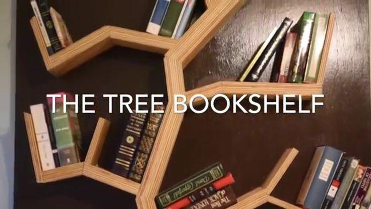 Tree bookshelf diy trees a video and tree bookshelf for Tree bookshelf diy