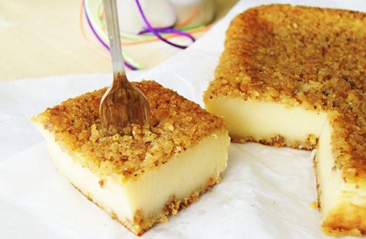 jugando en mi cocina: Pastel cremoso con frutos secos