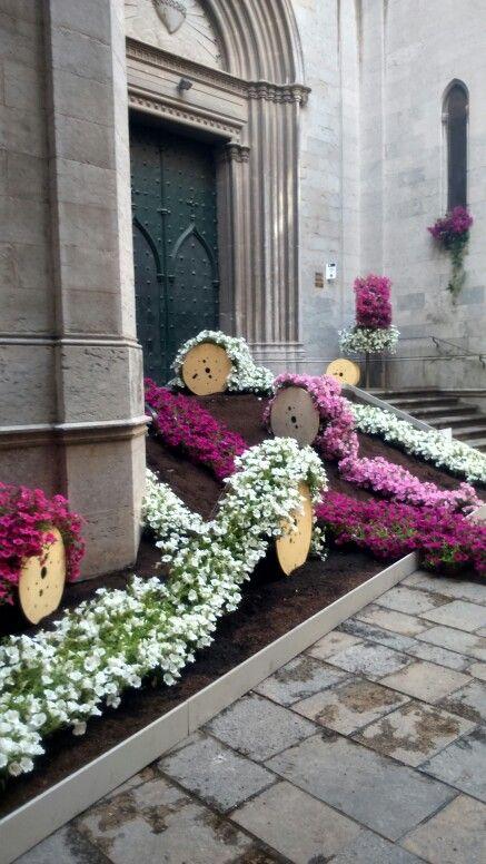 Bobines de flors. Temps de Flors Girona 2015
