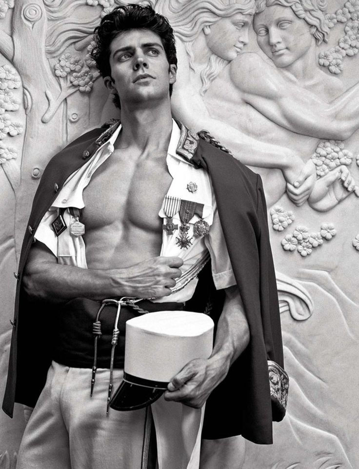 Roberto Bolle Poses as Nude Statue for Vanity Fair Italia