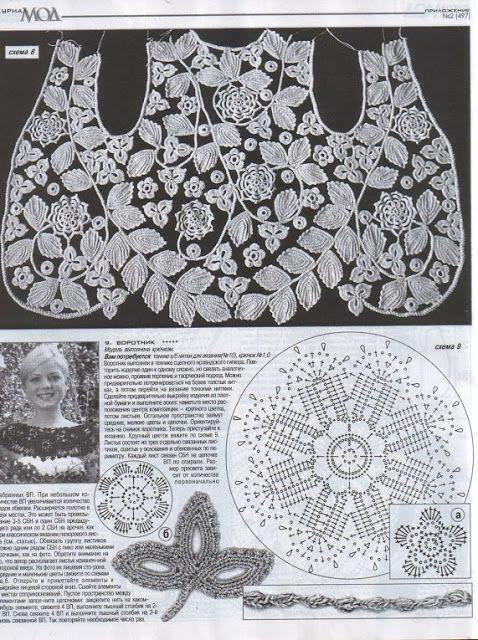 Letras e Artes da Lalá: Crochê irlandês - irish crochet (fotos: pinterest)
