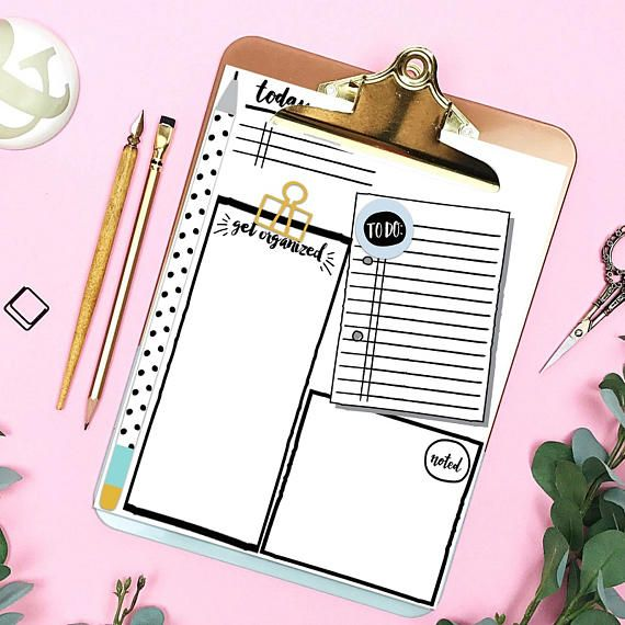 To Do List Do This Today Daily Log Printable Planner Insert