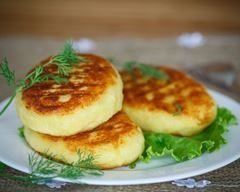 Galette de flocons d'avoine au fromage