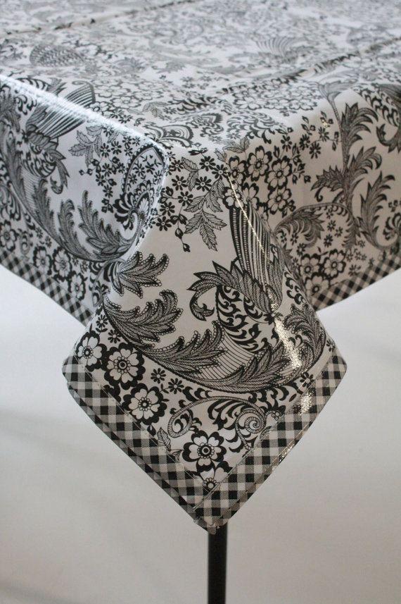 modern oilcloth tablecloth - 570×857