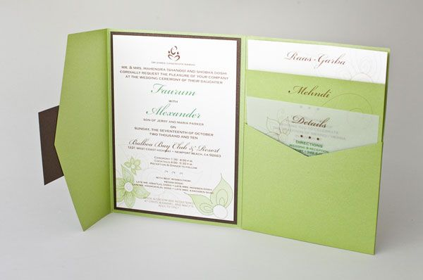 Wedding Invitation Pocket Folders: Image Detail For -The Pieces In The Suite Are Tucked Into