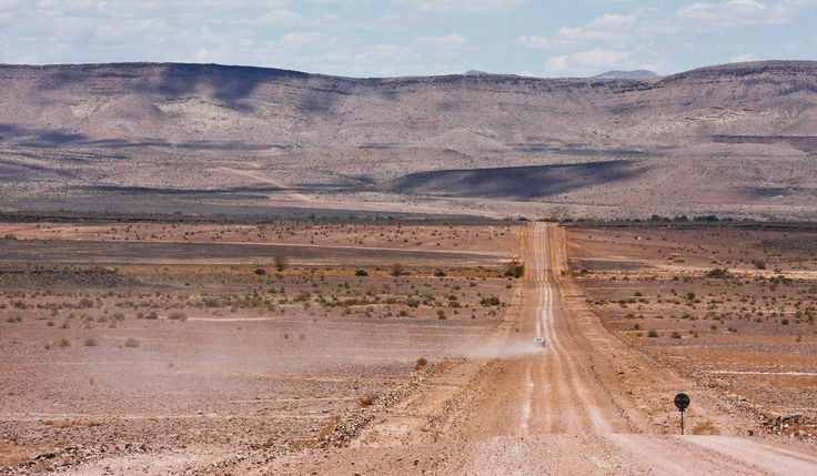Gravel road to Ai-Ais Hot Springs in the southern part of Namibia
