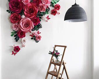 boda fondo boda pared papel flor fondo flores de papel boda teln de fondo