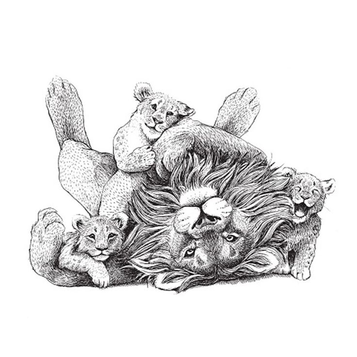 Sticker - Løver by Draw Doodles Study