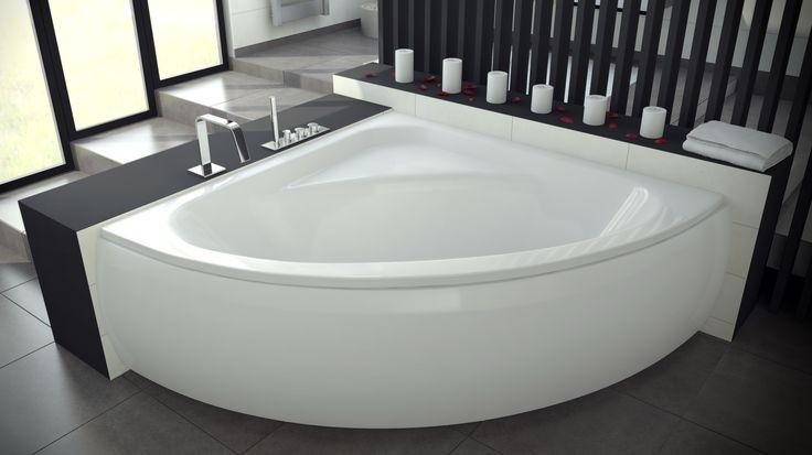 Pełen komfort kąpieli dla całej rodziny zapewni Nasza największa wanna symetryczna- LUKSJA. Dostępna w wymiarze 148 x 148cm, wymaga sporego metrażu salonu kąpielowego.