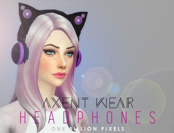 One Billion Pixels: Axent Wear Headphones • Sims 4 Downloads
