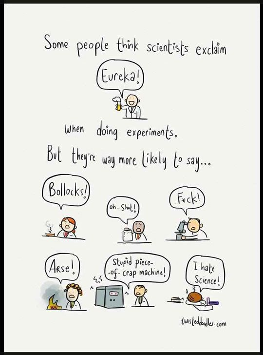Scientist exclamation...
