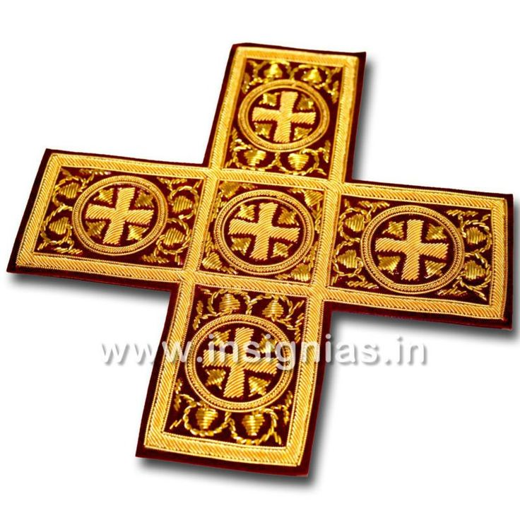 byzantine liturgical cross | Byzantine Liturgical Embroidered Crosses.Индия