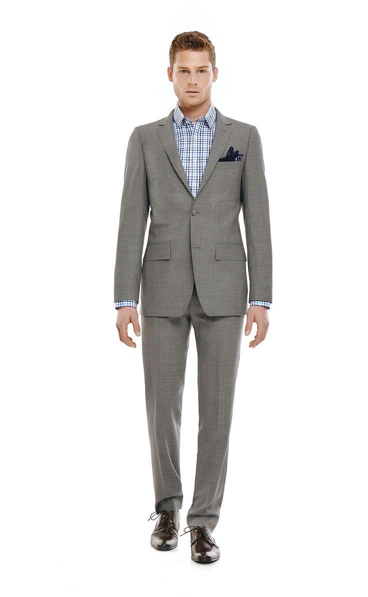 Bentley Grey Slim Fit Wool Suit | Bell & Barnett