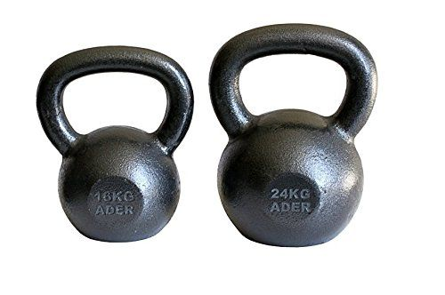 Ader Premier Kettlebell Set- (16, 24kg). Ader premier style kettlebells. 16kg, 24kg (35lb, 53lb). Authentic Russian kettlebells. Professional quality kettlebell for health clubs. Ships to all 50 States, APO, FPO, and P.O. Box.