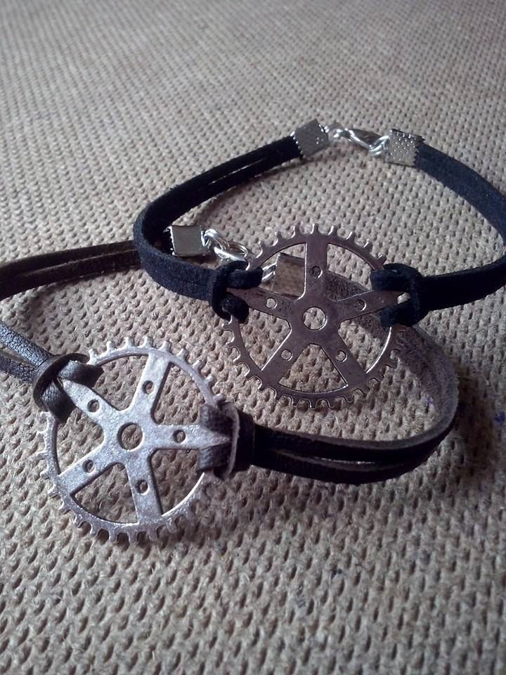 MEN leather jewelry ,triathlon bracelet,bike love bracelet,biker bracelet by TriJewelry on Etsy