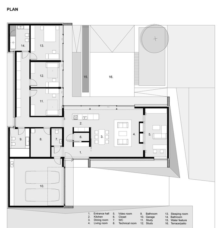 66 best house plans images on pinterest floor plans for Contemporary home plans